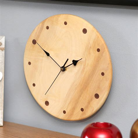 Handmade Wall Clocks - handmade wood wall clock by berry apple