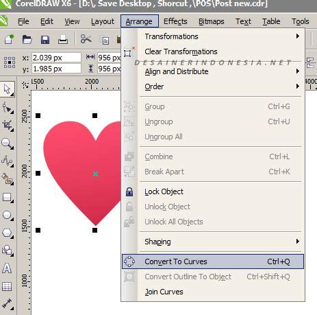 membuat logo hati dengan coreldraw cara membuat logo hati dengan coreldraw ainayanur