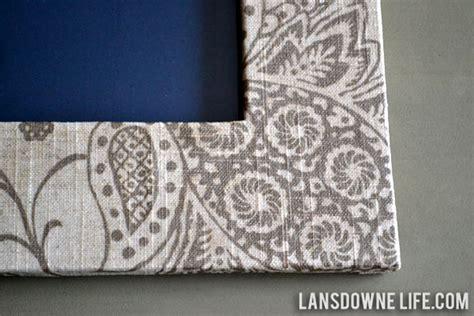 Fabric Decoupage On Wood - fabric wrapped photo frame lansdowne