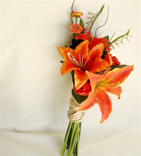 Destination Wedding Flowers Orange Tiger Lily Bridal