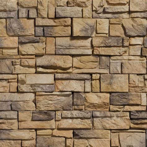 brown granite pattern tan and grey stone in a brick wall pattern material