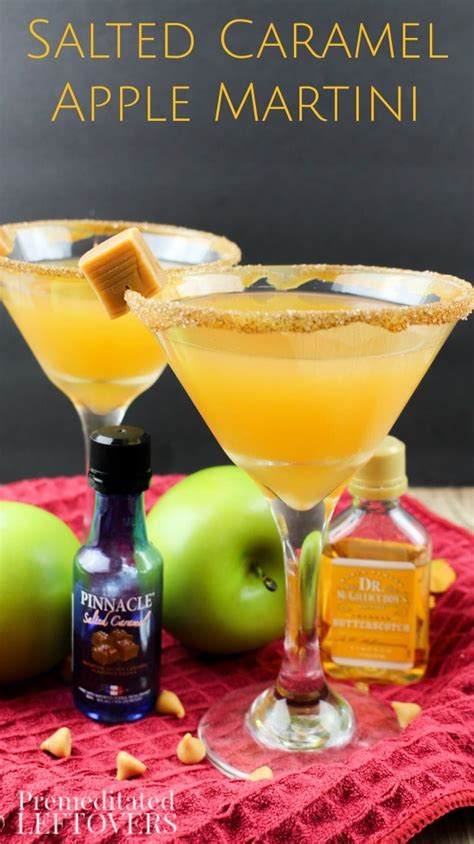 salted caramel martini recipe salted caramel apple martini cocktail recipe