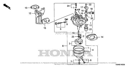 snowblower carburetor diagram honda hs724 wa a snow blower jpn vin szbe 1030001 parts