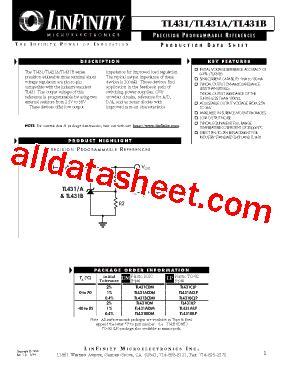 transistor tl431 datasheet tl431 datasheet pdf microsemi corporation