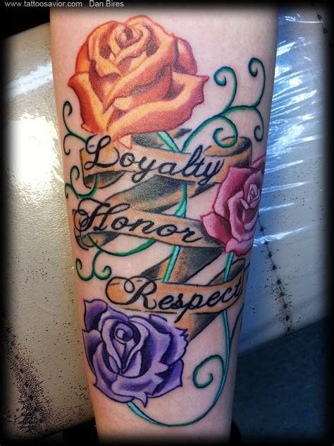 honor tattoos the gallery for gt ambigram tattoos loyalty respect