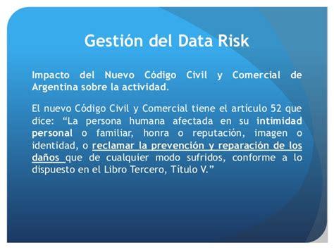 articulo 1221 nuevo codigo civil argentina gesti 243 n del riesgo de los datos data risk