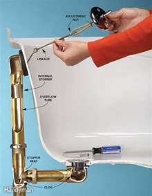 bathtub drain lever repair unclog a bathtub drain without chemicals the family handyman