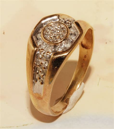 and gold mens ring jewelry brand new ring