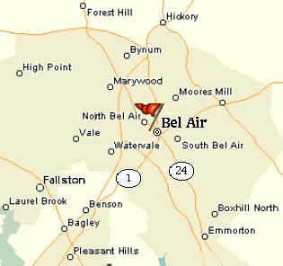 maryland map bel air harford