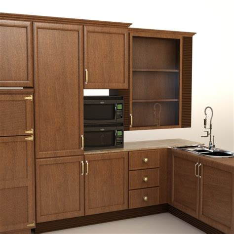 complete kitchen cabinets complete kitchen cabinets appliances 3d model cgstudio