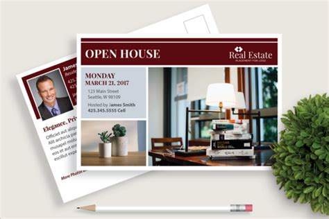 custimazable templates for post cards real estate real estate postcard templates free premium templates