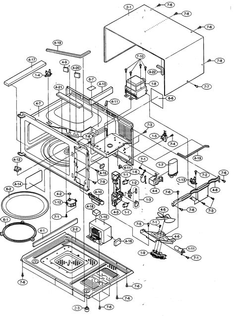 sharp microwave parts diagram sharp microwave parts model r316fs sears partsdirect