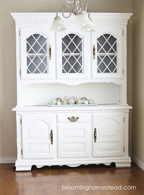 americana chalk paint diy china hutch makeover blooming homestead