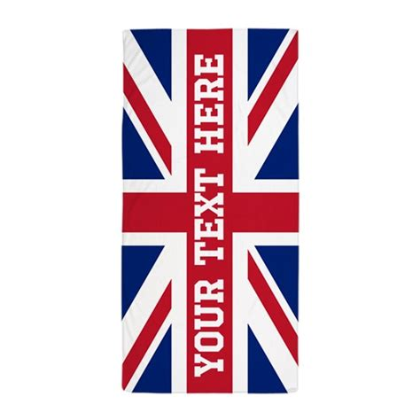 union template personalize union flag towel by flagfashion