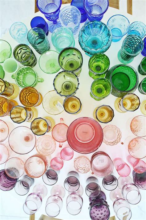 colorful glasses cheers to colored glassware sfgirlbybay