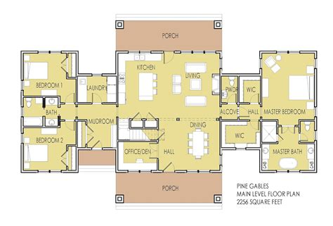 One Story Floor Plans With Two Master Suites Simply Home Designs New House Plan Unveiled