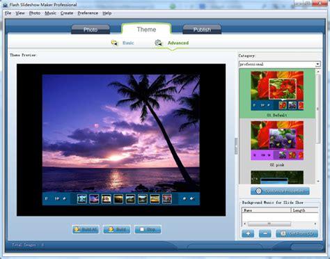 theme template creator flash slideshow maker slideshow software
