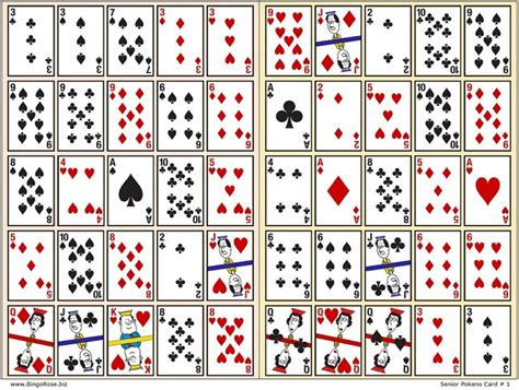 printable card deck pokeno playing card x2 jpg 1050 215 793 ideas pinterest