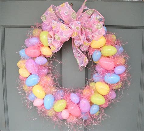how to make easter eggs diy easter egg wreath my honeys place