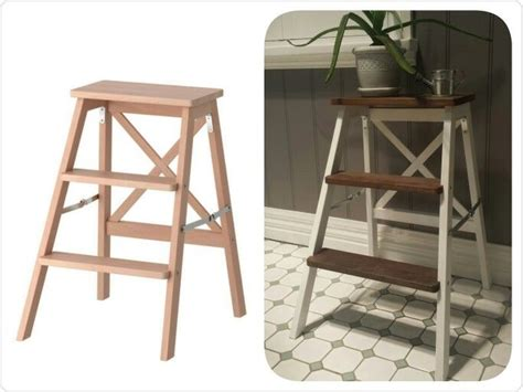 designdreams by anne ikea hack bekvam stepladder makeover ikea bekvam 3 step ladder hack white paint and vinegar