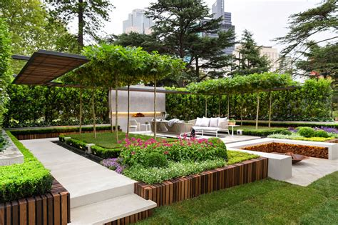 terrace design stylish modern garden and terrace design by nathan burkett