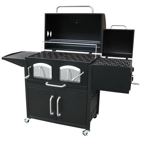 Charcaol Grill by Landmann Bravo Premium Charcoal Grill With Offset Smoker