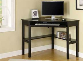 Compact Computer Hutch Black Corner Computer Desk For Home Office