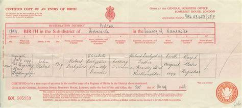 United Kingdom Birth Records Family History Documents