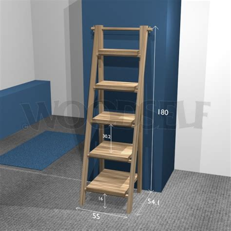 woodwork ladder bookshelf plans free pdf plans