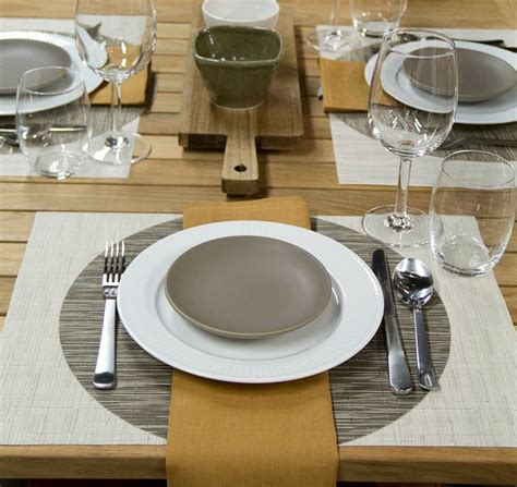 casual table setting dinner restyled interior