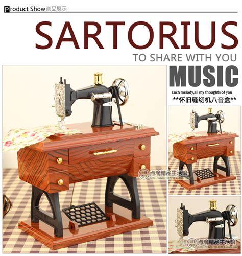 Mesin Jahit Apple kotak musik mesin jahit musical box brown jakartanotebook