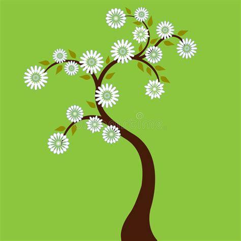 albero con fiori bianchi albero con i fiori bianchi illustrazione vettoriale