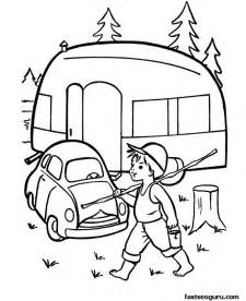 Coloring Pages Caravan Car Printable For Kids sketch template