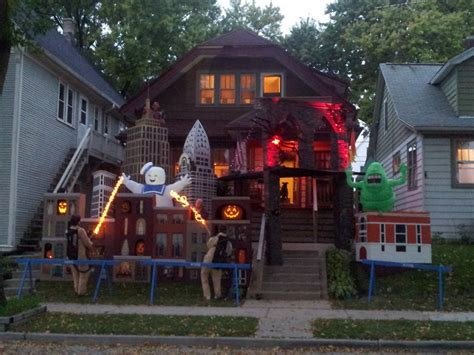 best decorated homes brilliant halloween house decorations from america cool