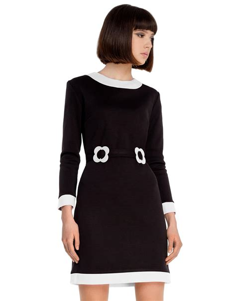 boat neck with collar marmalade retro 60s mod boat neck collar dress in black white