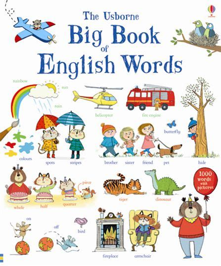 vocabulary picture book big book of words at usborne books at home