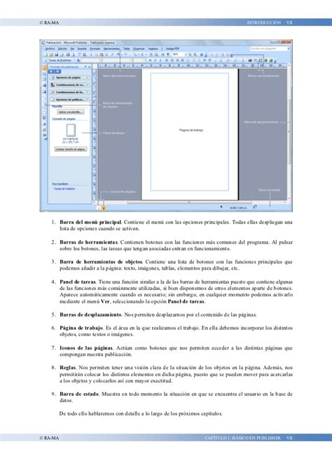 tareas basicas de publisher manual de office publisher
