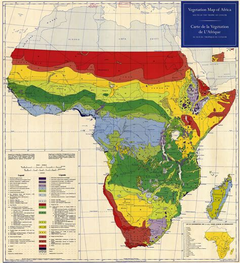 africa map vegetation vegetation map of africa south of the tropic of cancer