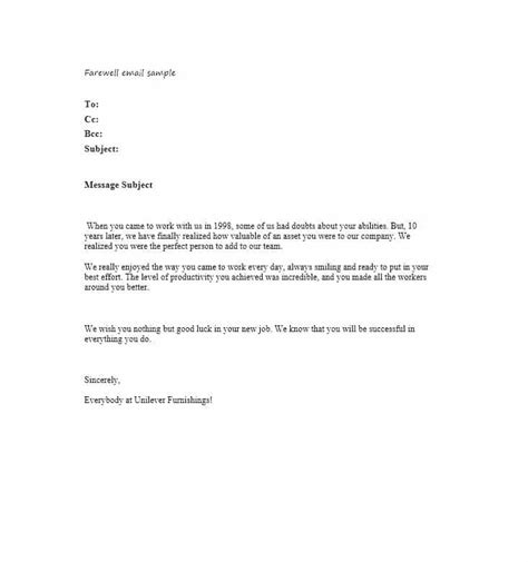 last day at work email template 40 farewell email templates to coworkers template lab