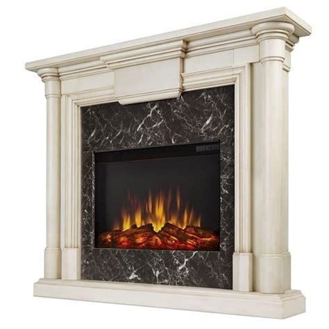 White Fireplaces Electric by Real Flame Maxwell Indoor Slim Electric Fireplace In