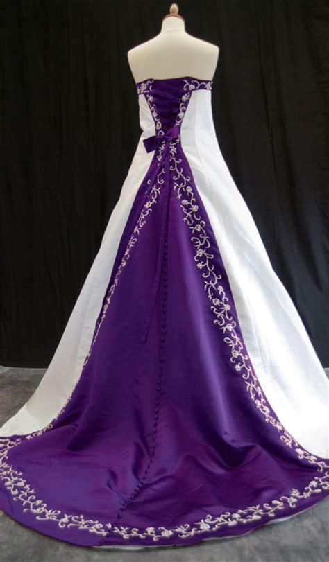 wedding addict purple  white wedding dresses