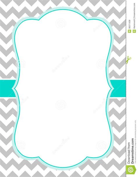 Chevron Border Template Blue Chevron Invitation Template Free Primary