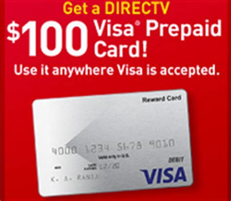 Visa Gift Cards With No Activation Fee - free 100 directv visa prepaid gift card offer