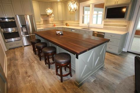Kitchens With Dark Brown Cabinets by Beautiful Butcher Block Island