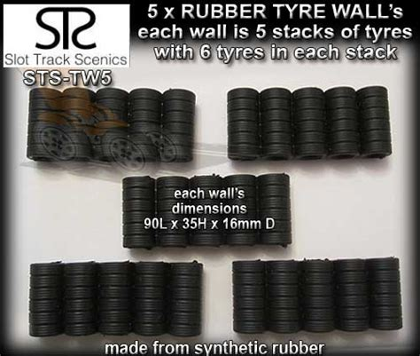 Sts Tyre Wall Tw5 Five Tyre Wall Sections Tw5 18 00