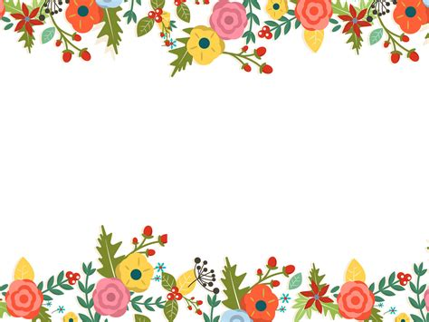 cute floral powerpoint templates border frames
