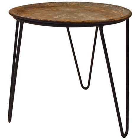 wrought iron and zinc plant stand tray table with