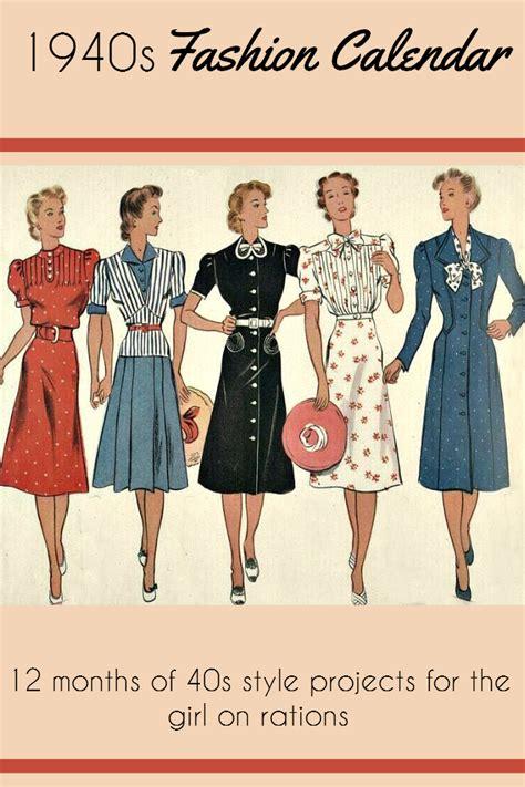 swing style mode the 40s fashion calendar lovebirds vintage