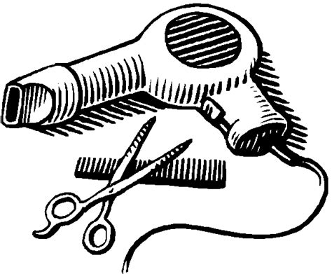Hair Dryer Clipart Black And White scissors and comb clipart clipart panda free clipart images