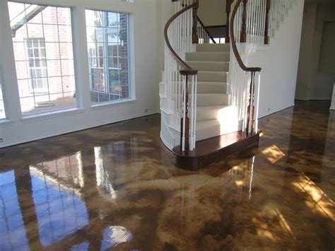 Acid Stained Concrete and Decorative Concrete Overlays iin